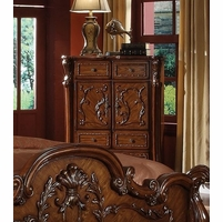 Dresden Antique Style 2-Door Chest With Carved Accents in Cherry Oak