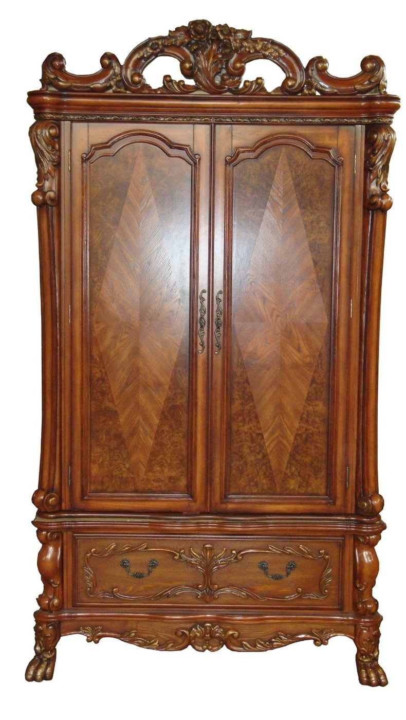 dresden antique style tv armoire in traditional cherry oak. Black Bedroom Furniture Sets. Home Design Ideas