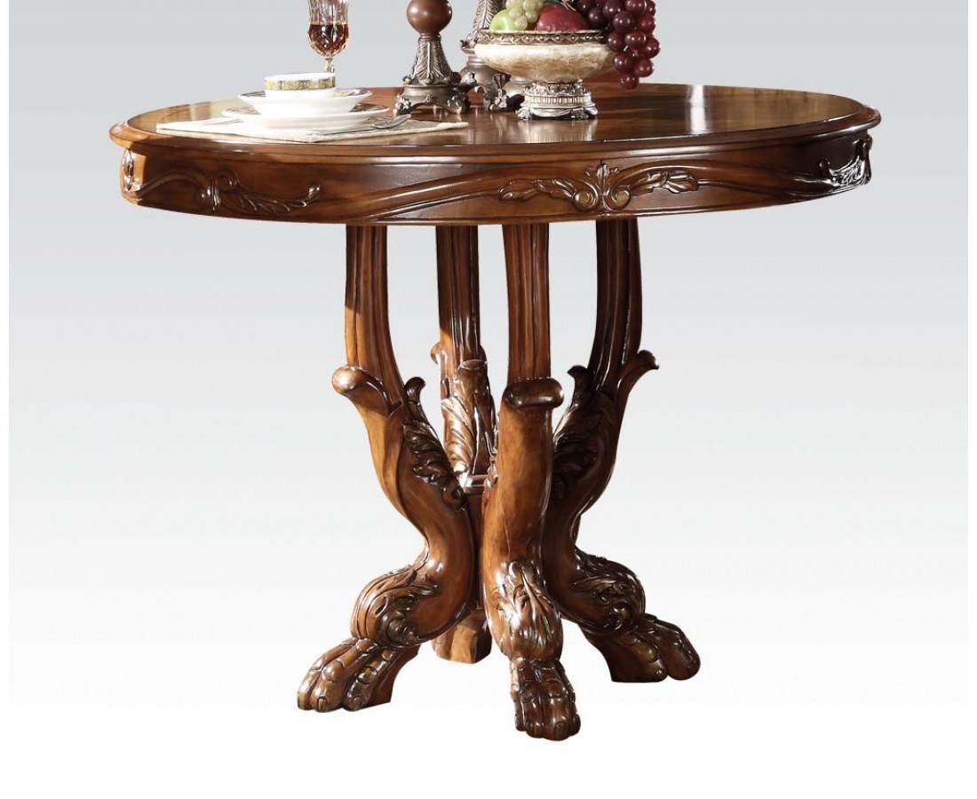 """Dresden 5pc Antique Style 48"""" Wood Counter Height Dining"""