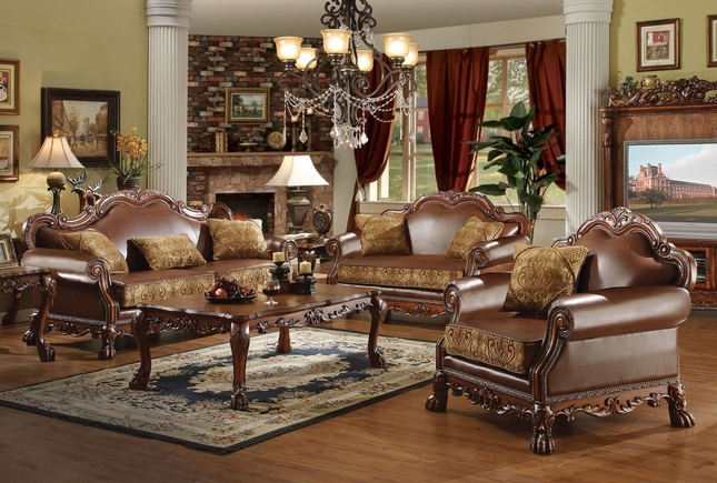 Fine Dresden Formal Brown Leather Gold Fabric Sofa Loveseat Creativecarmelina Interior Chair Design Creativecarmelinacom