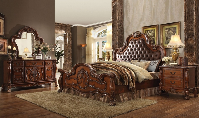 Popular Upholstered King Bedroom Set Set