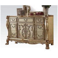 Dresden Traditional Luxury 7-drawer Ornate Dresser In Gold Patina