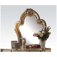 Dresden Traditional Luxury Ornate Dresser Mirror In Gold Patina