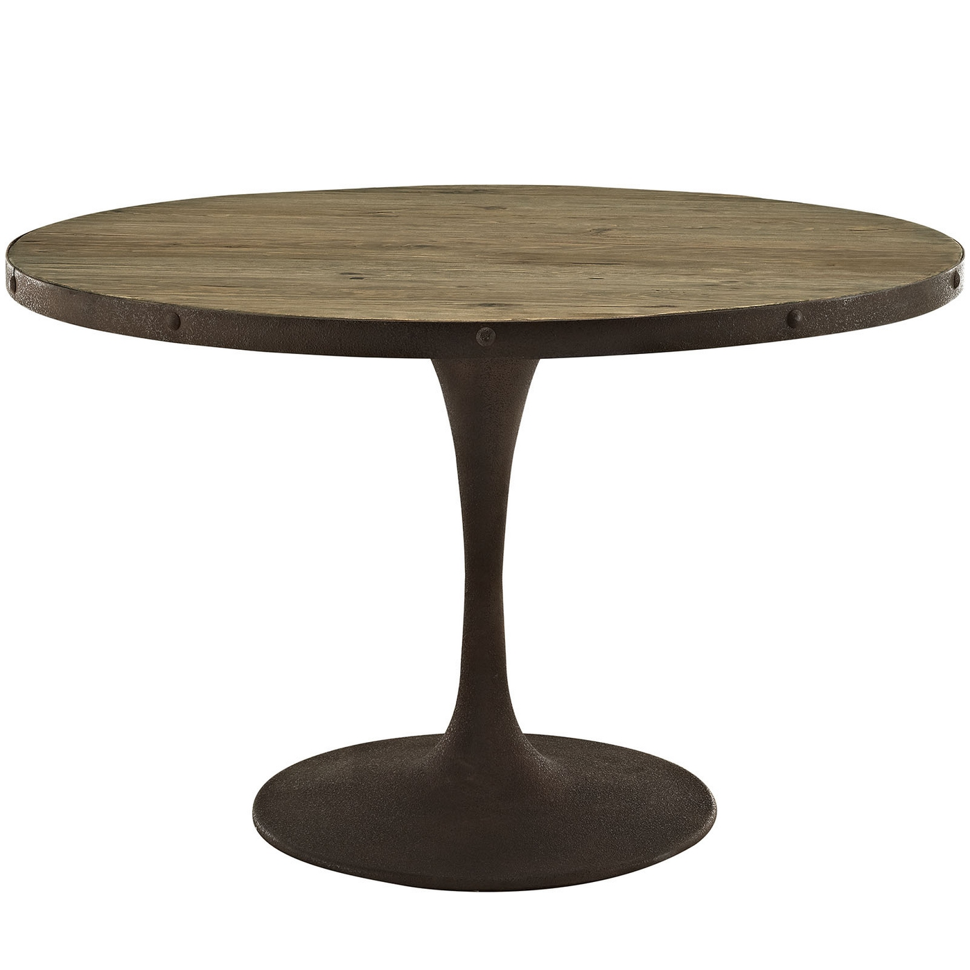 Drive Rustic 48 Quot Round Wood Top Dining Table W Iron