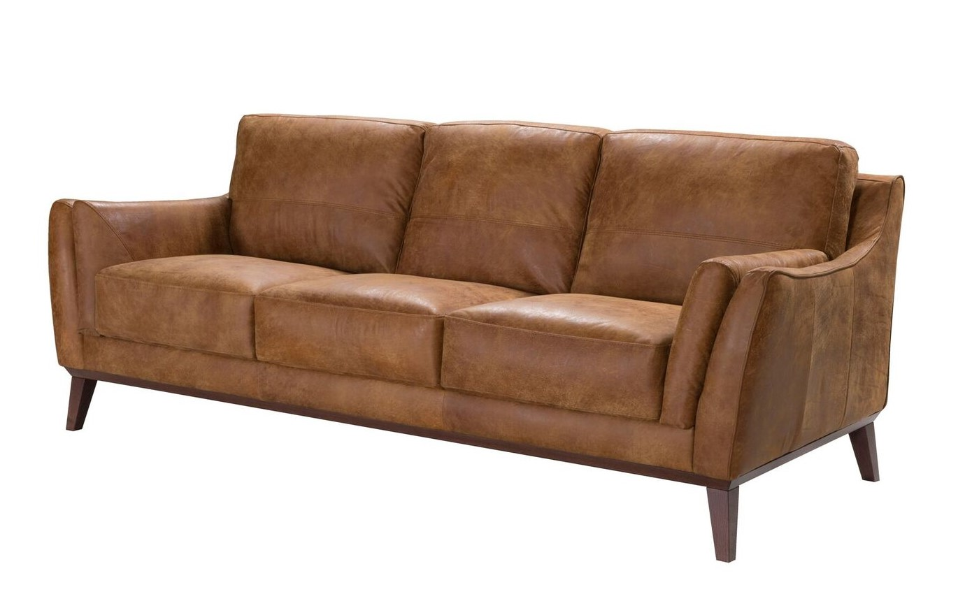 Durante Contemporary Italian Top Grain Leather Sofa In