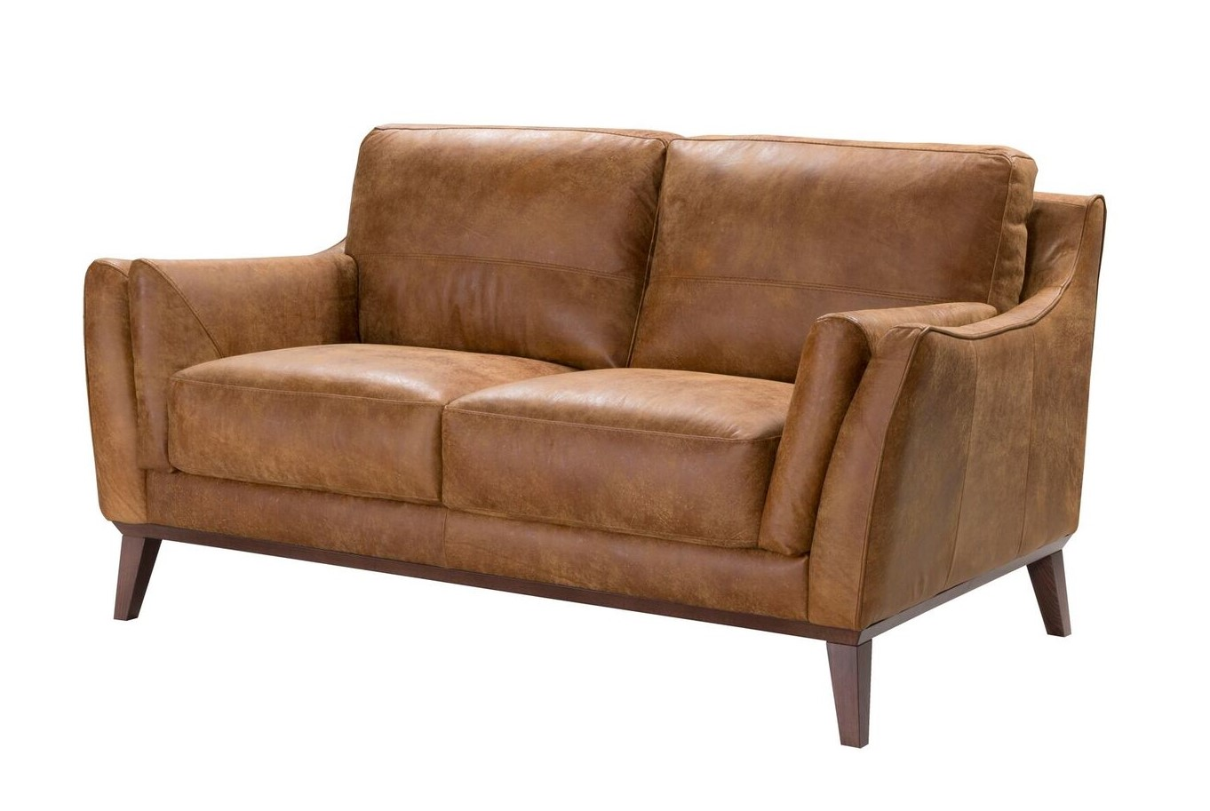 Durante Contemporary Italian Top Grain Leather Sofa Set In