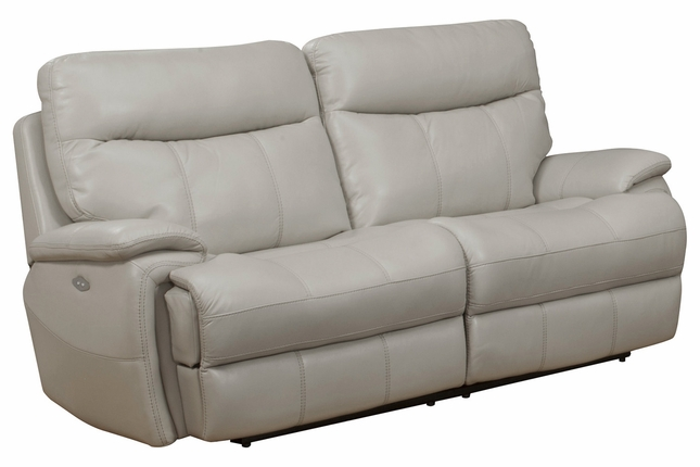 Dylan Creme Transitional Fabric Power Reclining Sofa With Pillow Top