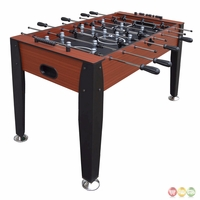 Carmelli Dynasty 54-in Foosball Soccer Table in Cherry Wood & Black Finish