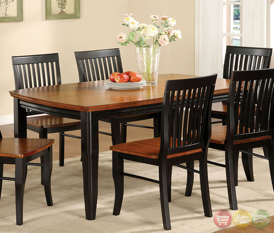 earlham i mission antique black and oak casual dining set