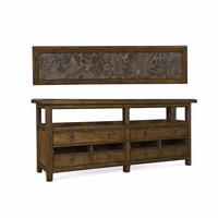 Echo Park Birch and Bluestone Entertainment Console With Stippled Stain