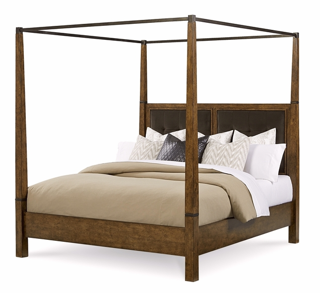 Echo Park Birch California King Canopy Bed With Stipple Stained Finish