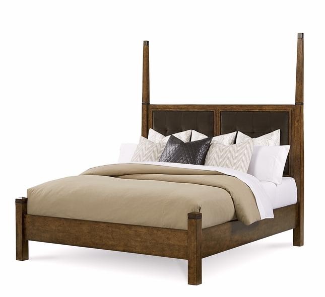 Echo Park Birch California King Poster Bed With Stipple Stained Finish