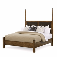 Echo Park Birch King Poster Bed With Stipple Stained Finish