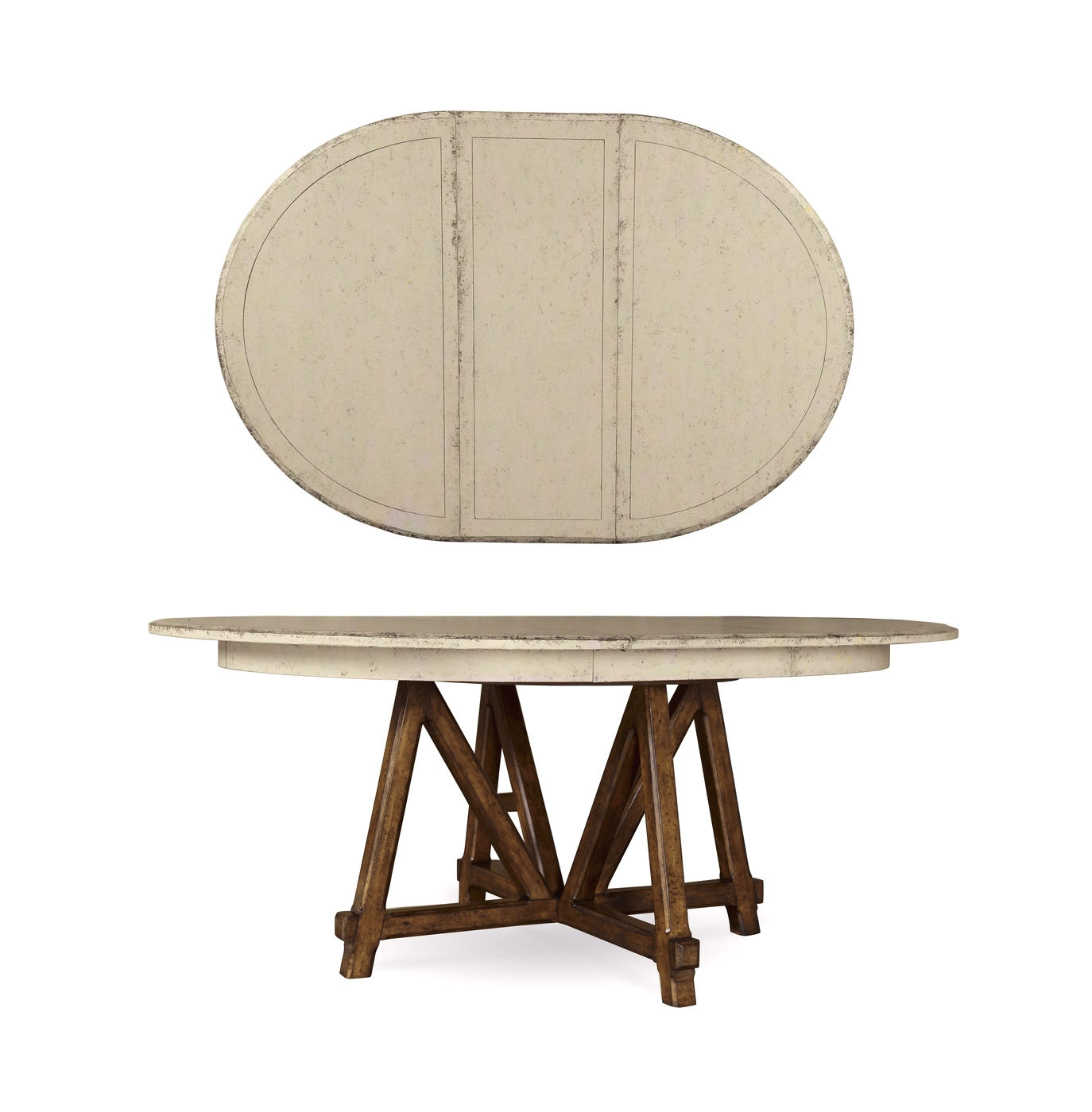 echo park birch round dining table in antique white. Black Bedroom Furniture Sets. Home Design Ideas