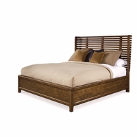 Echo Park California King Shelter Bed with Stipple Stained Birch Veneer