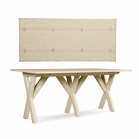 Echo Park Flip Top Console Table in Birch with Weathered Antique White Finish