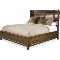 Echo Park Queen Size Shelter Bed with Stipple Stained Birch Veneer