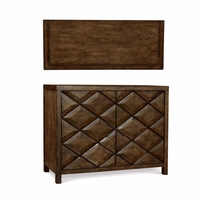 Echo Park Raised Diamond Birch Hall Chest in Stipple Stain Finish