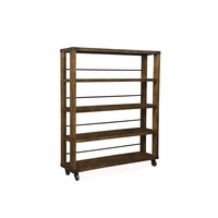 Echo Park Rolling Birch Bookcase Etagere with Stippled Stain Finish
