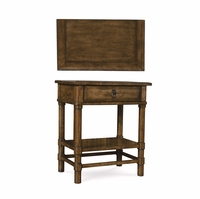 Echo Park Stipple Stained 1-Drawer Nightstand in Birch and Radiata Wood