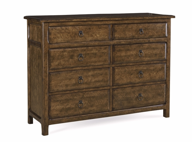 Echo Park Stipple Stained Tall 8-Drawer Dresser in Birch and Radiata Wood