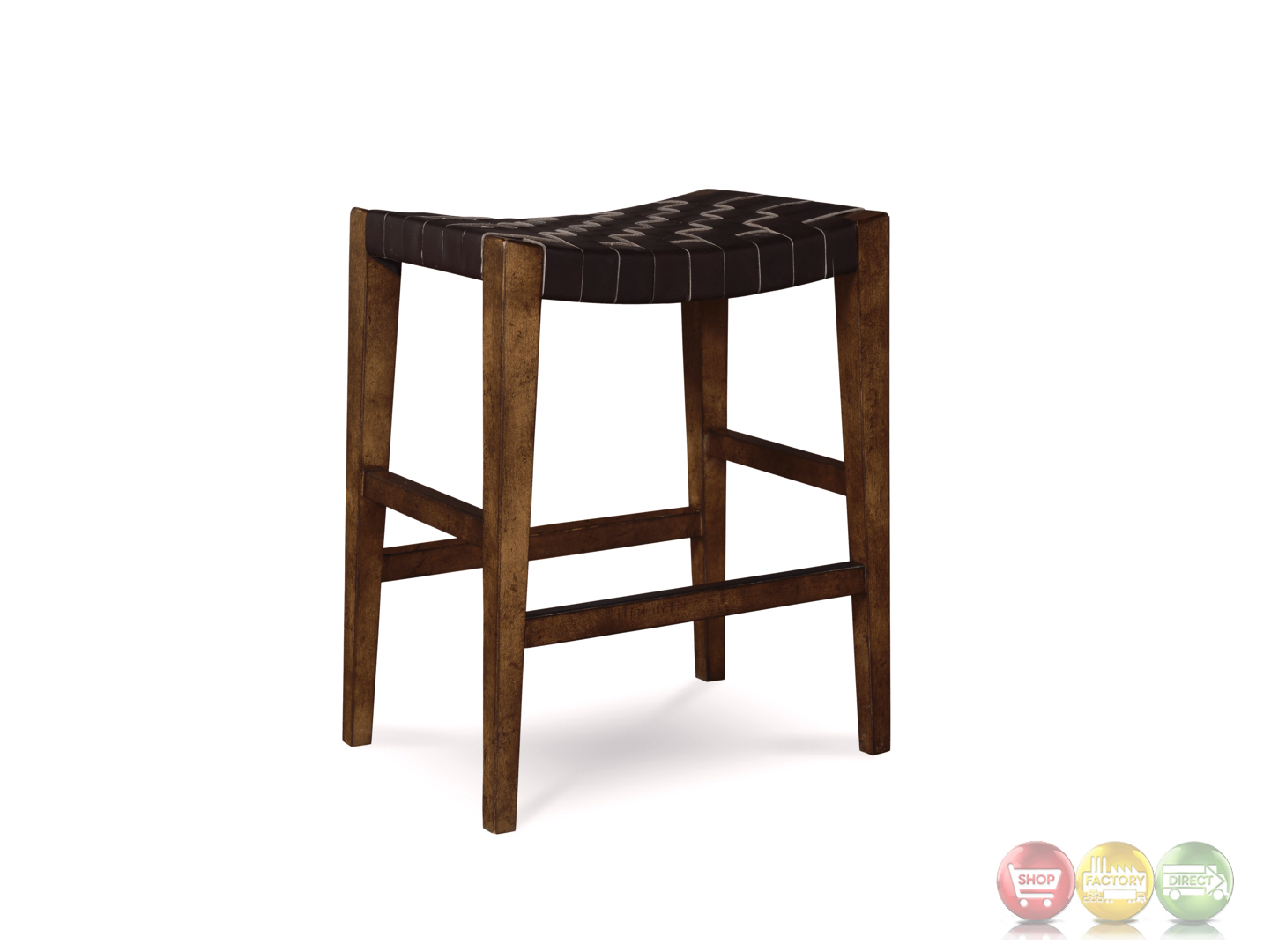 Liberty Dining Room Furniture Echo Park Woven Black Leather 24 Quot Birch Counter Height Stool