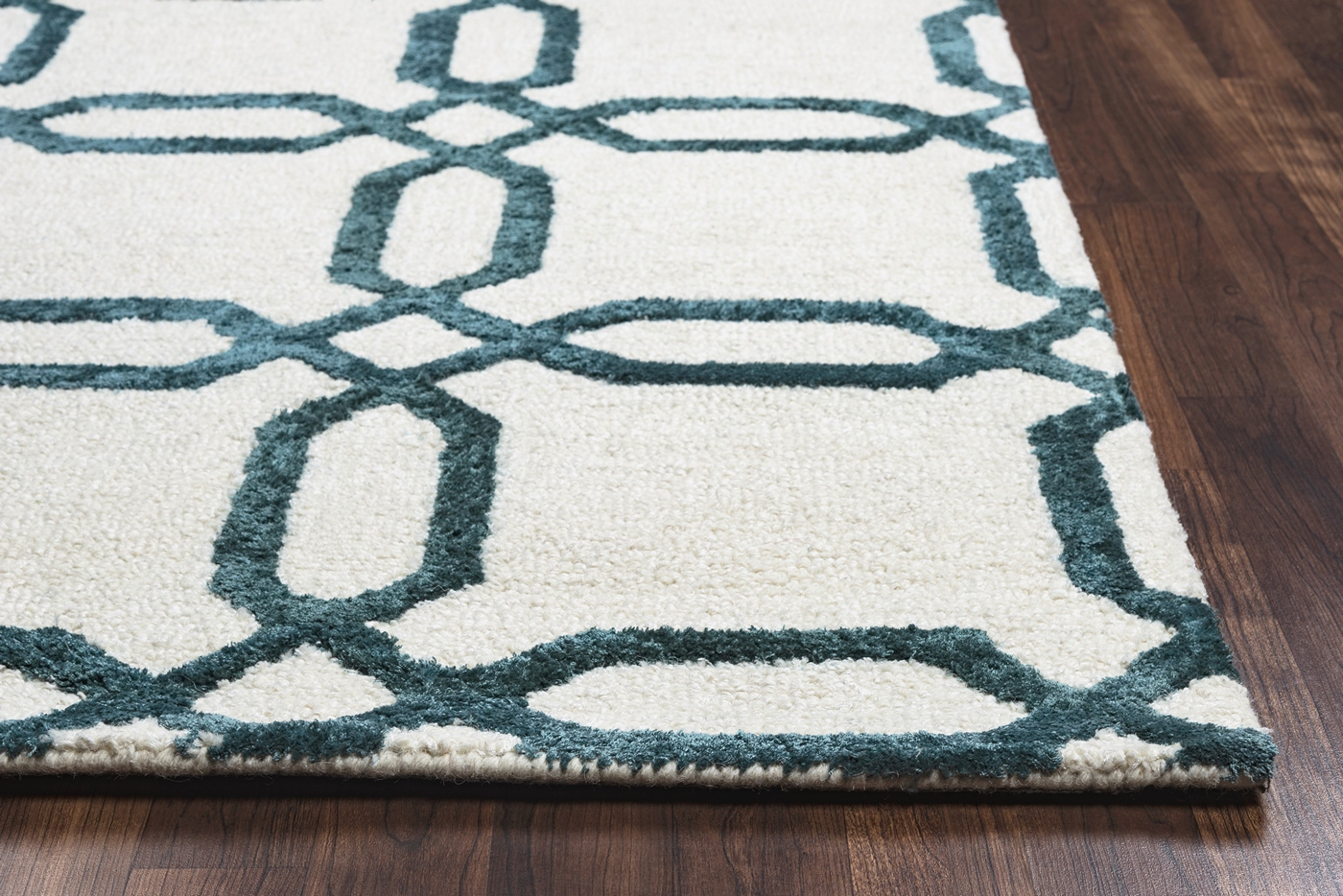 Eden Harbor Geometric Octagon Wool Area Rug In Off White