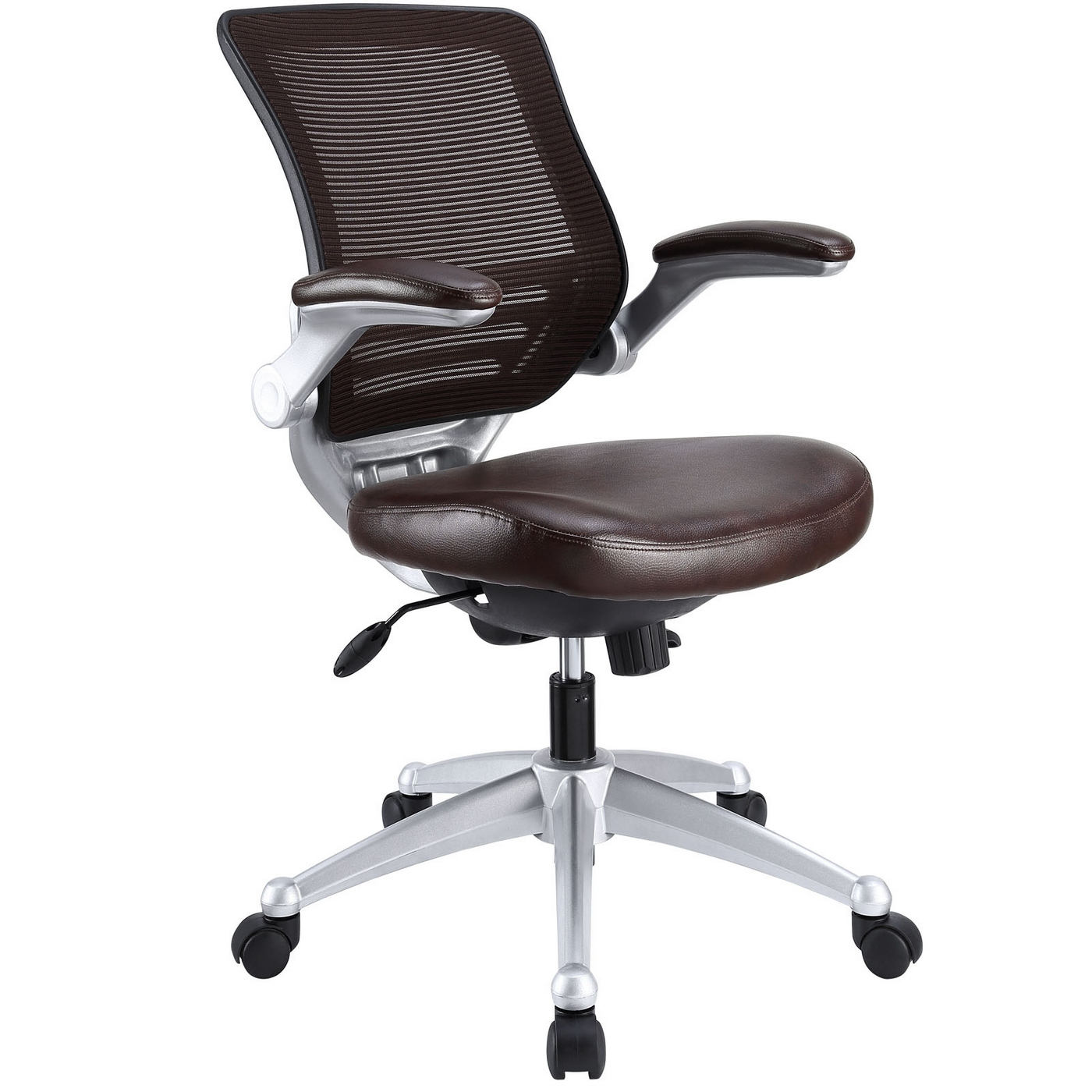 Edge modern adjustable ergonomic leather office chair w for Modern leather office chairs