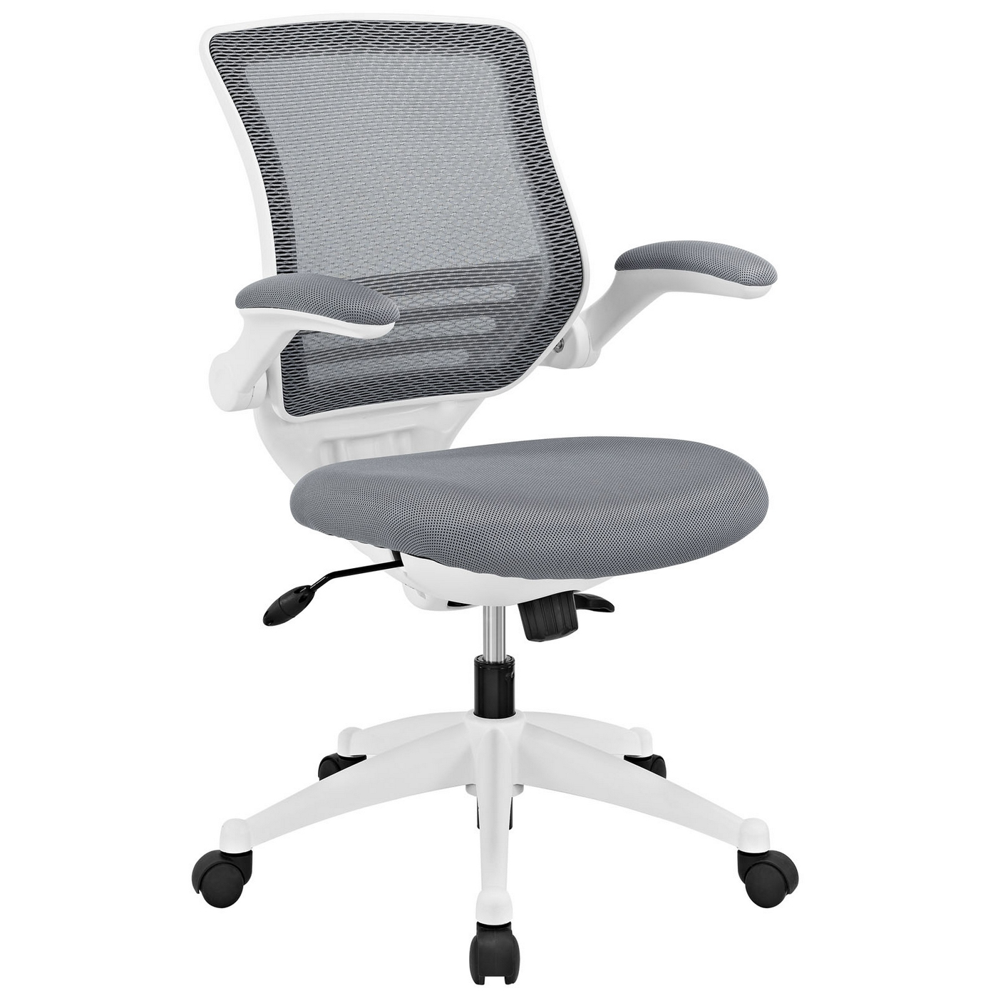 Edge modern adjustable ergonomic white frame office chair for Modern white office chair