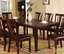 Edgewood I Transitional Espresso Casual Dining Set with Padded Leatherette Seat