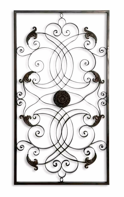 Effie Contemporary Distressed Aged Black Wall Art  07527