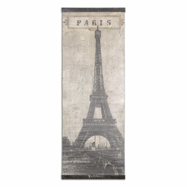 Eiffel Tower Paris Crackled Canvas Art 55017