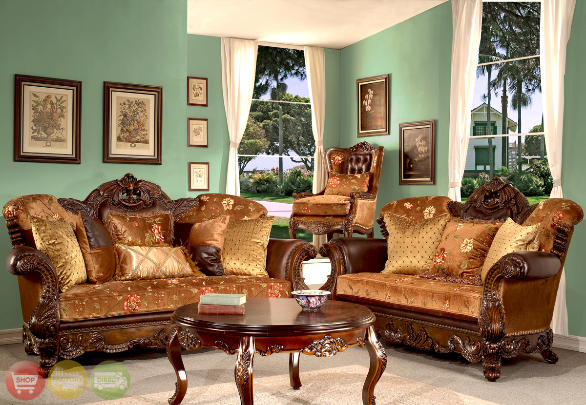 Elegant european antique style living room furniture for Elegant living room furniture