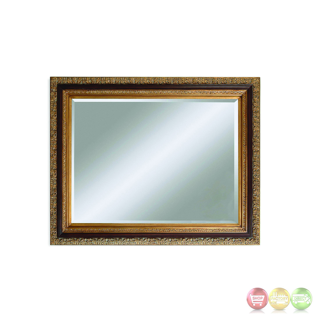 Eleganza ornate traditional wall mirror m2215bec for Traditional mirror