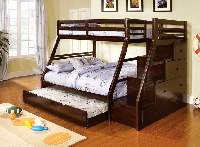 Ellington Bunk Bed with Built in Drawers and Stairs