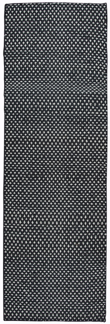Dotted Pattern Wool Runner Rug
