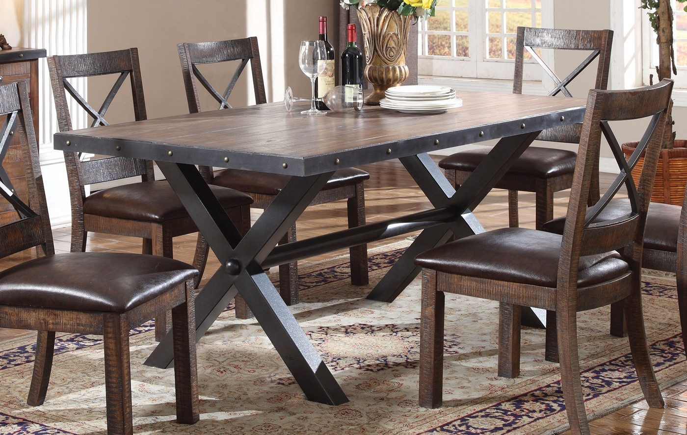 Emerson Rustic 68 Quot Weathered Cherry Finished Dining Table