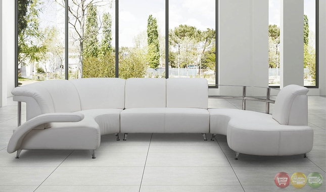 Emporess Ultra Modern Sectional Sofa Set With Sinious Spring Base RPCMO102