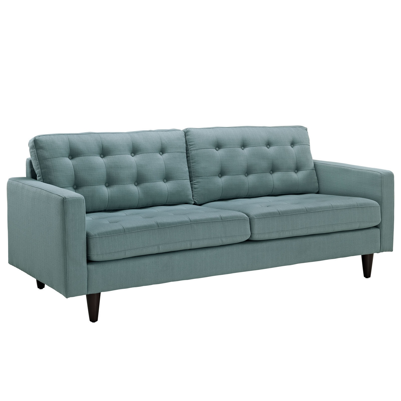 Empress contemporary button tufted upholstered sofa laguna for Modern contemporary sofa