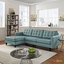 Mid-Century Modern Empress Left-facing Button-Tufted Sectional Sofa, Laguna