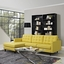 Mid-Century Modern Empress Left-facing Button-Tufted Sectional Sofa, Sunny