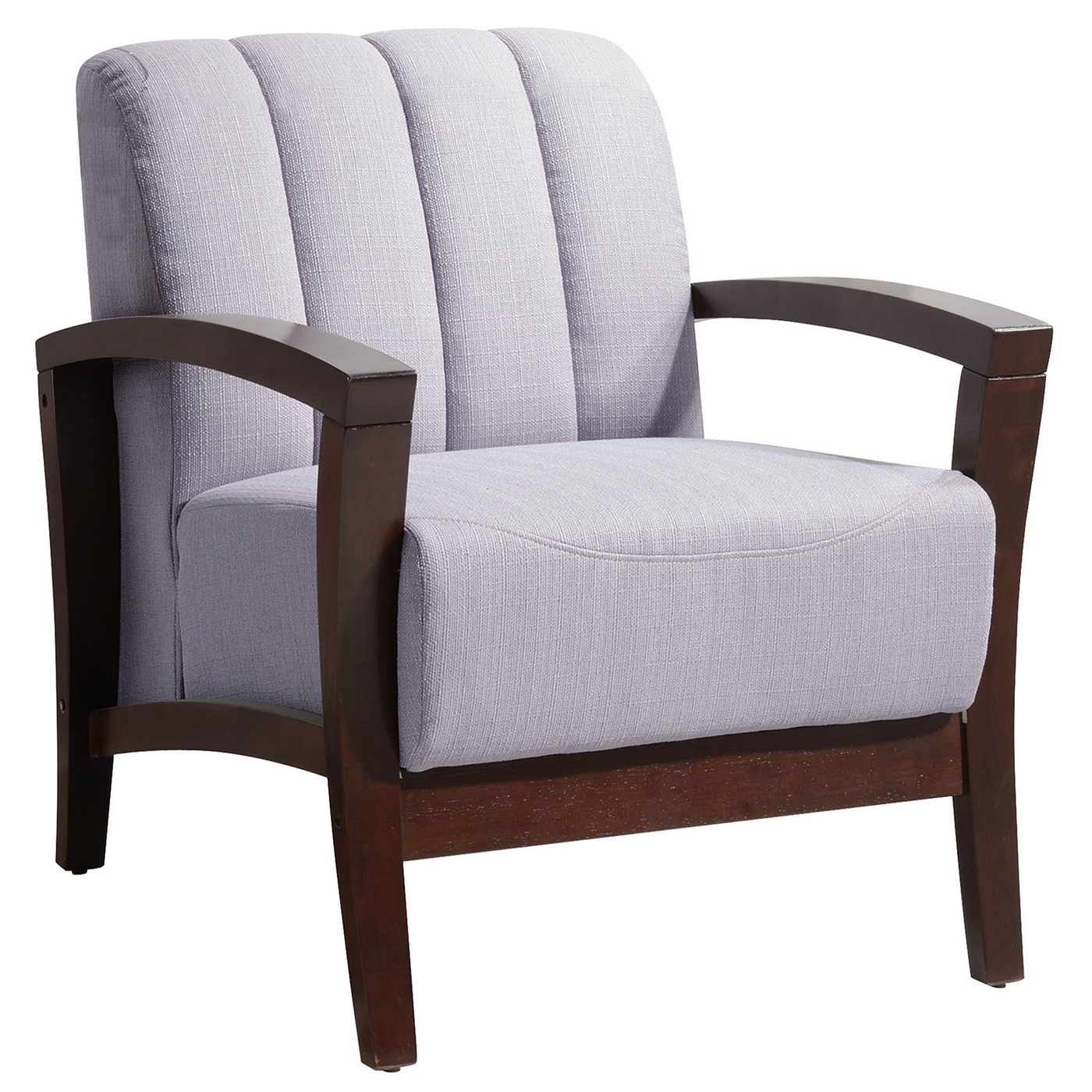 Wood Base Chairs ~ Enamor modern upholstered armchair with solid wood base