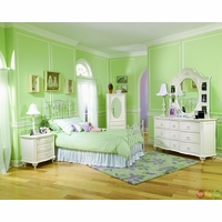 Enchantment Antique Off White Full Metal Youth Bed