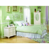 Enchantment Antique Off White Twin Metal Youth Bed