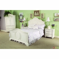 Enchantment Romantic Victorian Full Panel Youth Bed