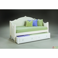 Enchantment Romantic Victorian Off White Twin Daybed w/ Optional Trundle
