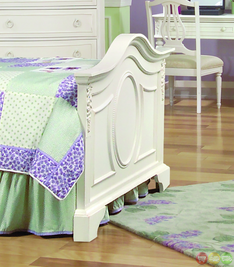 Victorian Youth Bed : Enchantment romantic victorian twin panel youth bed