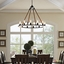 Encircle Suspension-style 12-bulb Chandelier w/ Rope Cord & Steel, Brown