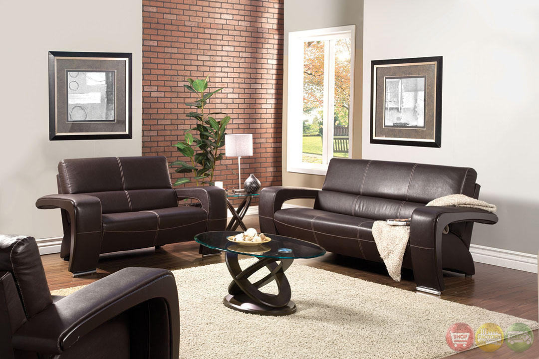 Enez modern espresso living room set with v shape arms sm6011 for V shaped living room