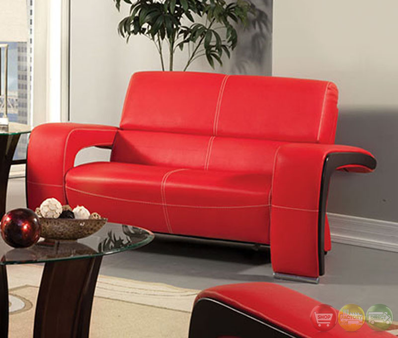 Red And Black Living Room Set Modern House